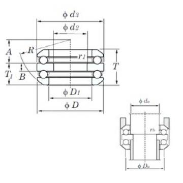 KOYO 54405 thrust ball bearings