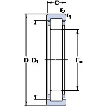 SKF RNU 203 ECP cylindrical roller bearings
