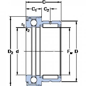 SKF NKX 15 Z cylindrical roller bearings