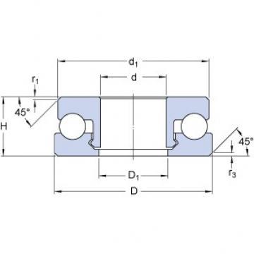 SKF 51106 V/HR11T1 thrust ball bearings
